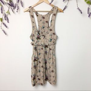 Vintage Low Scoop Neck Belted Romper